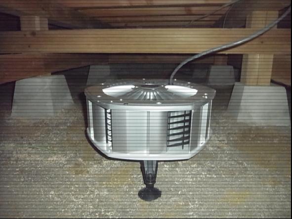 床下の湿気・シロアリ対策に換気扇を設置