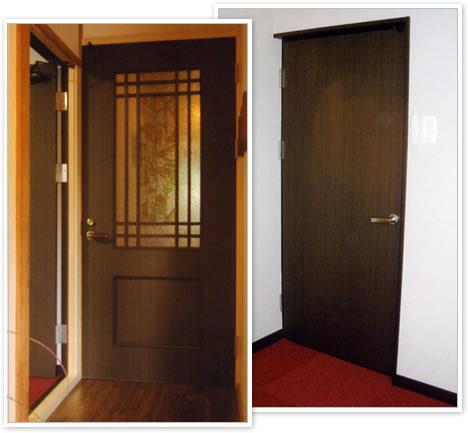 防音材を入れたドアもオーダーしました。>