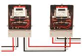 使用されなかった電気は電力メーターを通って電力会社に売られます。 夜間など、発電していない時間は電力会社から送られる電気を使います。