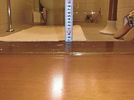 介護保険の助成金を利用した「トイレの床段差解消工事」をご紹介