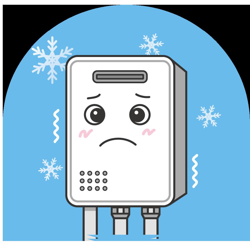 急に冷え込む日によくある給湯器トラブルの給湯器のトラブルの画像