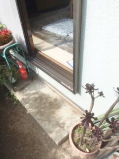 ◇庭に出るための手すりと踏み台◇