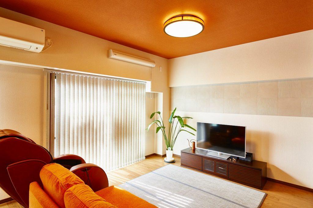 <施工後> 家具の色合いもコーディネートされました>